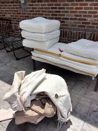 Recover Patio Chairs by New Canvas Covers For Old Patio Chair Cushions The Creative Studio