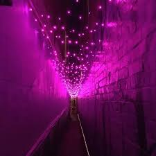 292 led lights pink colour clear cable