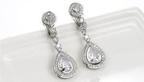 Long Chandelier Earrings Dangle Earrings Clip On Chandelier Earrings U2013 Thejots Net