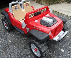 power wheels jeep barbie red jeep hurricane power wheels ride on toy kids kids toys