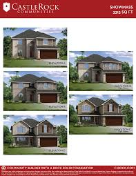 snowmass silver home plan by castlerock communities in parc at