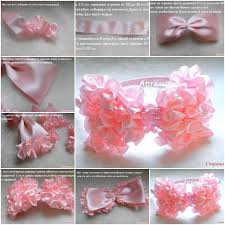 ribbon hair bands diy easy ruffled ribbon hairband
