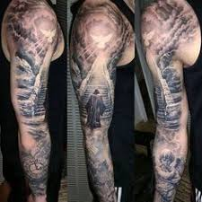 black and white sun tattoos 75 tree sleeve designs for
