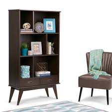 13 inch wide bookcase draper mid century 64 x 35 inch wide bookcase with storage simpli home