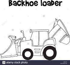 vector of backhoe loader cartoon stock vector art u0026 illustration