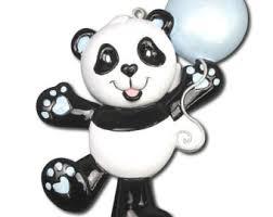 panda ornament etsy