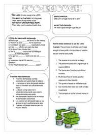 16 free esl too many worksheets