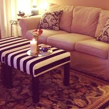 Diy Round Coffee Table by Coffee Table Turned To Design Ikea Lack Side Tables Ottomans Round