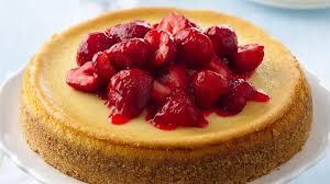 Cheesecake Decoration Fruit Fresh Strawberry Topped Cheesecake Recipe Bettycrocker Com