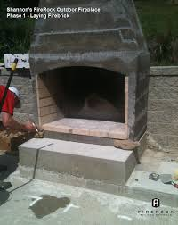 Cheap Patio Kits Diy Couple Adds Focal Point To Patio With Firerock Outdoor Fireplace