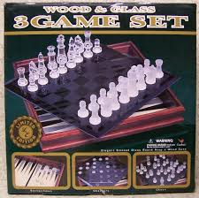 chess checkers backgammon 3 in 1 game box new ebay