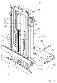 patent us7255202 truck mounted forklift with double acting
