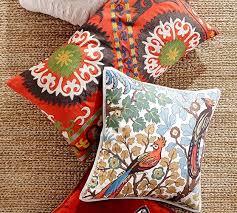 Pottery Barn Lumbar Pillow Covers Howell Suzani Lumbar Pillow Cover Pottery Barn