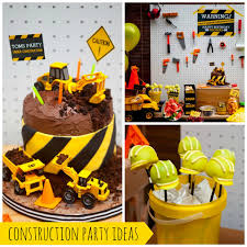 Construction Themed Centerpieces by Construction Themed Birthday Party