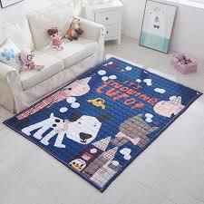 chambre pour chien bleu chien tapis d impression 100 coton décoration de sol tapis