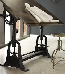 Wooden Drafting Tables by Desks Arhaus Desks Distressed Home Office Furniture Drafting