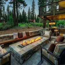 Firepit Outdoor Outdoor Patio With Rectangular Firepit Beautiful Homes With