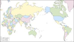 Blank Map Of Continents And Oceans by World Pacific Ocean Centered Free Map Free Blank Map Free