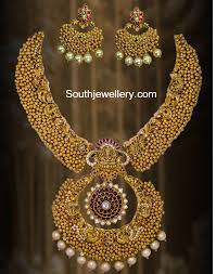 antique necklace set images Antique ghungroo necklace set jewellery designs jpg