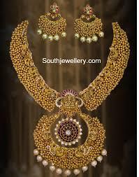 antique necklace set images Antique ghungroo necklace set jewellery designs jpg