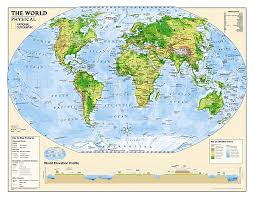 algeria physical map buy world physical map for education grades 4 12 laminated