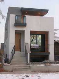 Small Modern House Design with White Wa using Window and