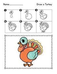 directed drawing thanksgiving activities for kindergarten