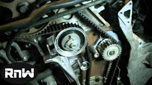 audi timing belt replacement how to replace the timing belt on a 2004 vw passat audi 1 8l turbo