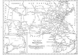 Massachusetts On Us Map by P Fmsig 1948 U S Railroad Atlas