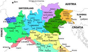 Itsly Map Regions Of Northern Italy Italian Wine Central