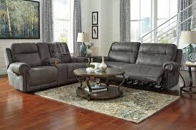 gray reclining sofa austere gray reclining living room set from ashley 3840181