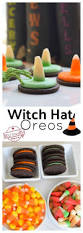 easy to make witch hat oreo cookies for a fun kid halloween food