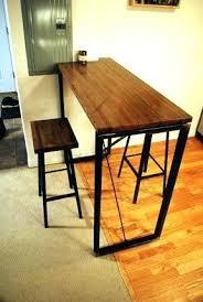 wooden high bar table narrow bar height table tall bar table and stools narrow bar table