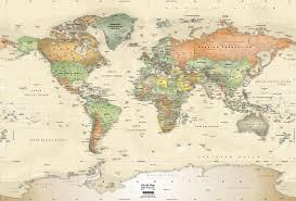World Map Unlabeled Large Vintage World Map Lifeloveand Me