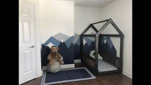 diy house frame floor bed montessori inspired floor bed youtube