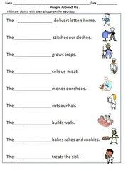 ideas of community helpers grade 1 worksheets on service