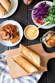 how to make sriracha mayo tofu bánh mì with vegan sriracha mayo lazy cat kitchen