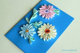 How To Make Easy Paper Flowers For Cards - blah to tada paper quilled cards