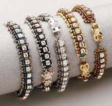 bracelet beading pattern images Beading patterns for stitching bugle beads into beautiful jewelry jpg