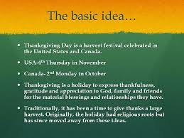 thanksgiving by natalie moses the basic idea thanksgiving day is