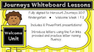 kindergarten journeys 2017 welcome to kindergarten lessons tpt