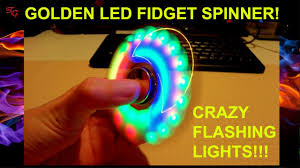 gold led fidget spinner lights