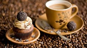 Beautiful Coffee Hd Background Coffee Cup Cupcake Coffee Beans Candy Wallpaper