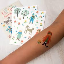 red riding hood temporary tattoos dotcomgiftshop