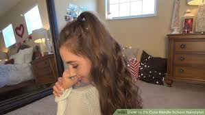 medium length easy wash and wear hairstyles 4 ways to do cute middle school hairstyles wikihow
