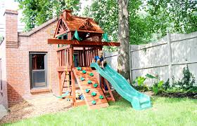 Backyard Ideas For Small Spaces Sweet Small Yard Swing Set Solution