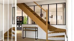 escalier entre cuisine et salon harmonie industrielle et scandinave mh deco