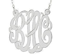 Monogram Necklace Sterling 7 8
