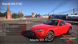 mazda cars list world of speed car list first part youtube