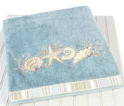 Bathroom Towel Decorating Ideas by Beach Themed Bath Towels Bathroom Decor